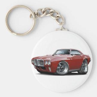1969 Firebird Maroon Car Key Ring