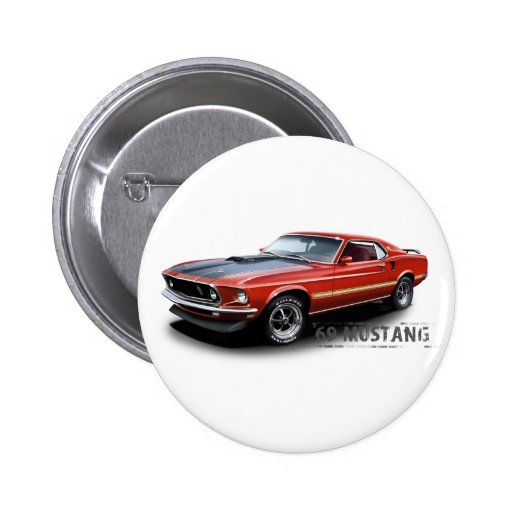 1969 Ford Mustang Buttons