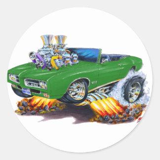 1969 GTO Green Convertible Stickers