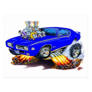 1969 GTO Judge Blue Car Postcard