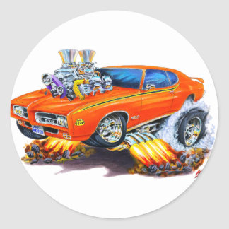 1969 GTO Judge Orange Car Sticker