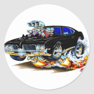 1969 Olds Cutlass Black Car Sticker