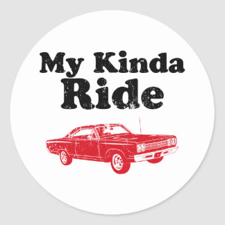 1969 Plymouth Road Runner Classic Round Sticker