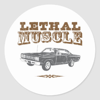 1969 Plymouth Road Runner Round Sticker