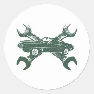 1969 Pontiac Firebird Round Sticker