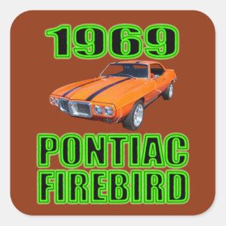 1969 Pontiac Firebird Sticker. Square Sticker