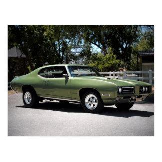 1969 Pontiac GTO Classic Muscle Car Postcard