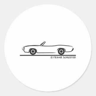 1969 Pontiac GTO Convertible Round Sticker