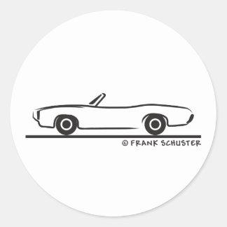 1969 Pontiac GTO Convertible Stickers