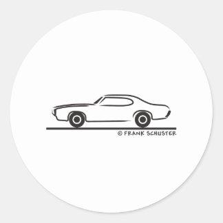 1969 Pontiac GTO Coupe Round Sticker