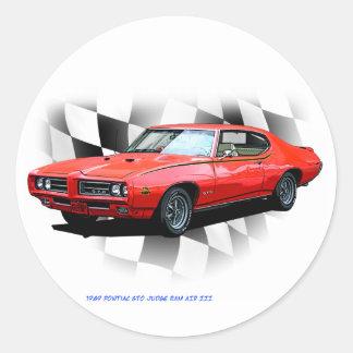 1969 Pontiac GTO Judge Round Sticker