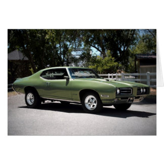 1969 Pontiac GTO Muscle Car Greeting Card