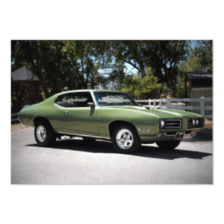 1969 Pontiac GTO Muscle Car Invitations