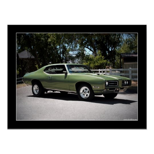 1969 Pontiac GTO Muscle Car Poster