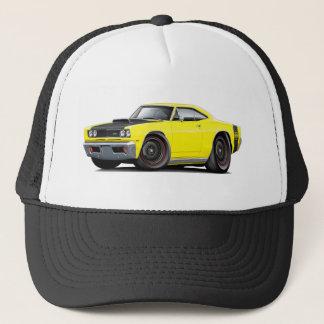 1969 Super Bee Yellow-Black Stock Wheels Trucker Hat