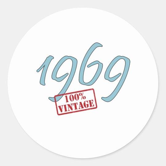 1969 Vintage Round Sticker