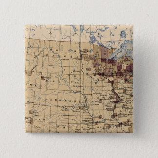 196 Value lumber, timber/sq mile 15 Cm Square Badge