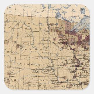 196 Value lumber, timber/sq mile Square Sticker