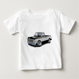 1970-72 Chevy C10 Black-White Truck Baby T-Shirt