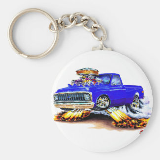 1970-72 Chevy C10 Blue Longbed Key Ring