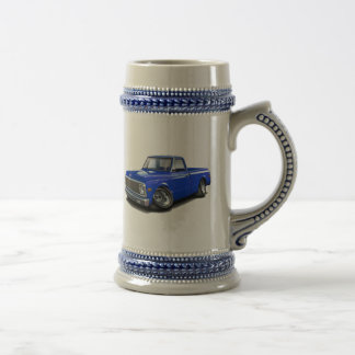 1970-72 Chevy C10 Blue Truck Beer Stein