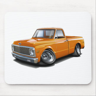 1970-72 Chevy C10 Orange Truck Mouse Pad