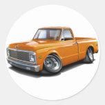 1970-72 Chevy C10 Orange Truck Stickers