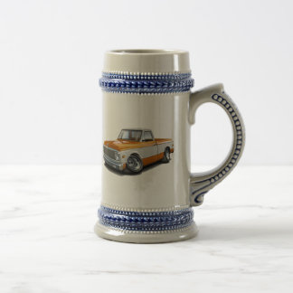 1970-72 Chevy C10 Orange-White Truck Beer Stein