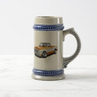 1970-72 Chevy C10 Orange-White Truck Beer Steins