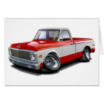 1970-72 Chevy C10 Red-White Truck Greeting Card