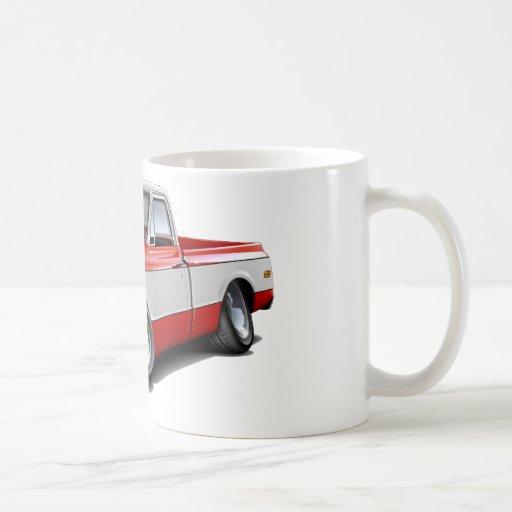 1970-72 Chevy C10 Red-White Truck Classic White Coffee Mug