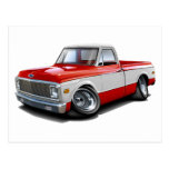 1970-72 Chevy C10 Red-White Truck Post Cards