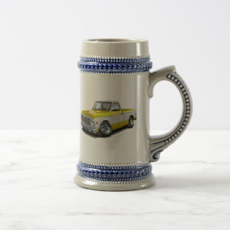1970-72 Chevy C10 Yellow-White Truck Beer Stein