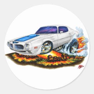 1970-72 Trans Am White Car Round Sticker