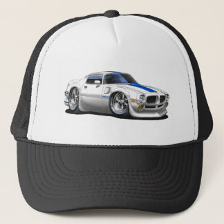 1970/72 Trans Am White Car Trucker Hat
