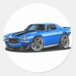 1970-73 Camaro Blu/Blk Car Round Stickers