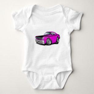 1970-74 Duster 340 Pink Car Baby Bodysuit