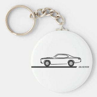 1970-74 Duster Black Car Basic Round Button Key Ring