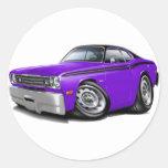 1970-74 Duster Purple-Black Top Car Sticker