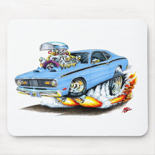 1970-74 Plymouth Duster Lt Blue Car Mouse Mat