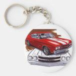 1970 Chevelle Red-White Car Keychain