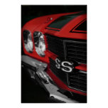1970 Chevelle SS396 Red Poster