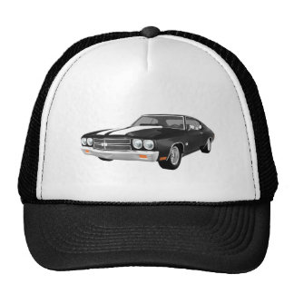 1970 Chevelle SS: Black Finish: Cap