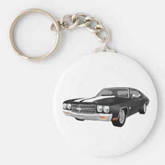 1970 Chevelle SS Black Finish Key Chains