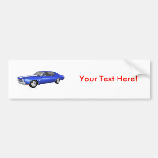 1970 Chevelle SS: Blue Finish: Bumper Sticker