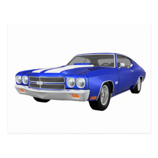 1970 Chevelle SS: Blue Finish: Postcard