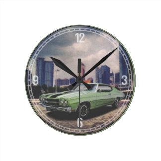 1970 Chevrolet Chevelle (Green) Decorative Clock