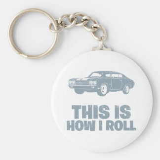 1970 Chevrolet Chevelle SS 454 Basic Round Button Key Ring