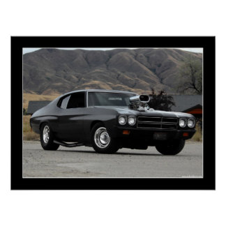 1970 Chevy Chevelle Drag Car Poster