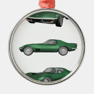 1970 Corvette: Green Finish Christmas Ornament